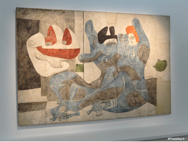 Fresque Murale by Le Corbusier expo Beaubourg urbanisme