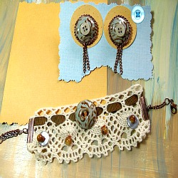 mixed media soft cuff bracelet and earrings new end studio tutorials