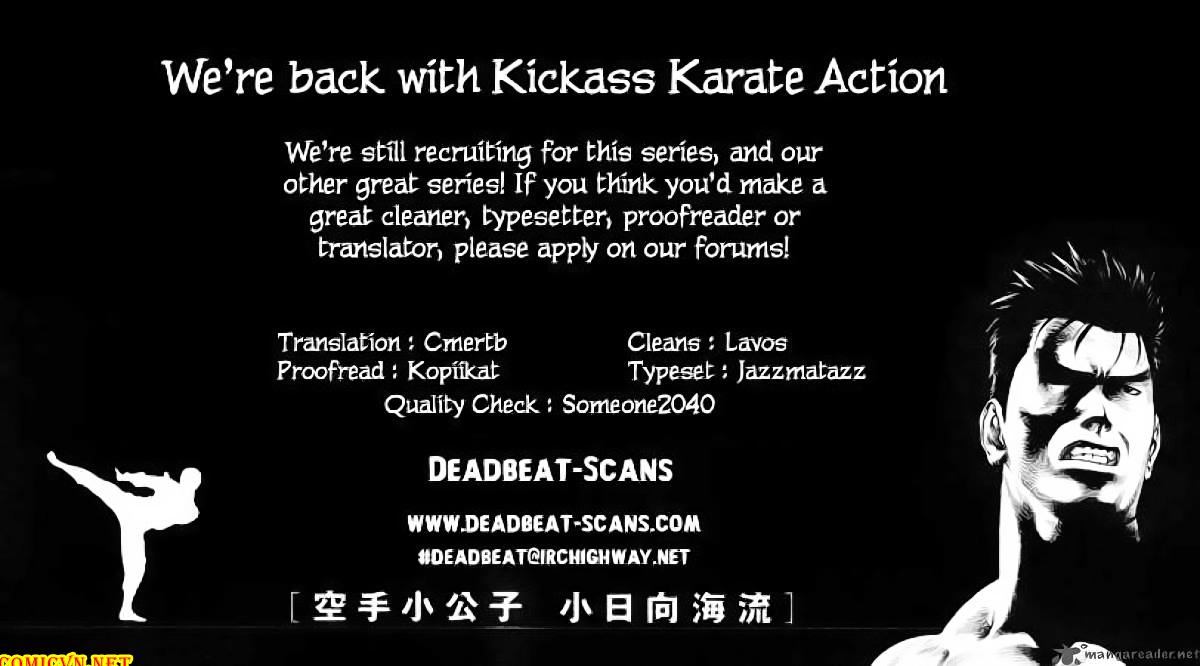 Karate Shoukoushi Kohinata Minoru chap 50 Trang 20