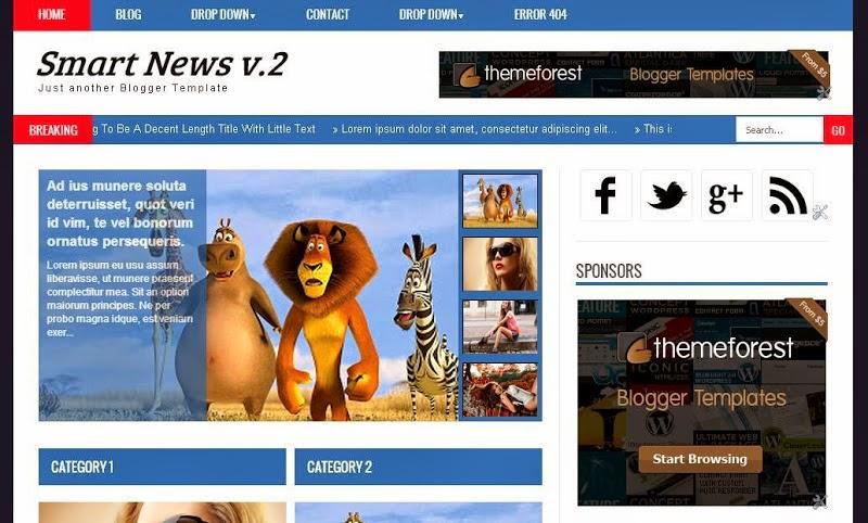 Smart News V2 Blogger Template