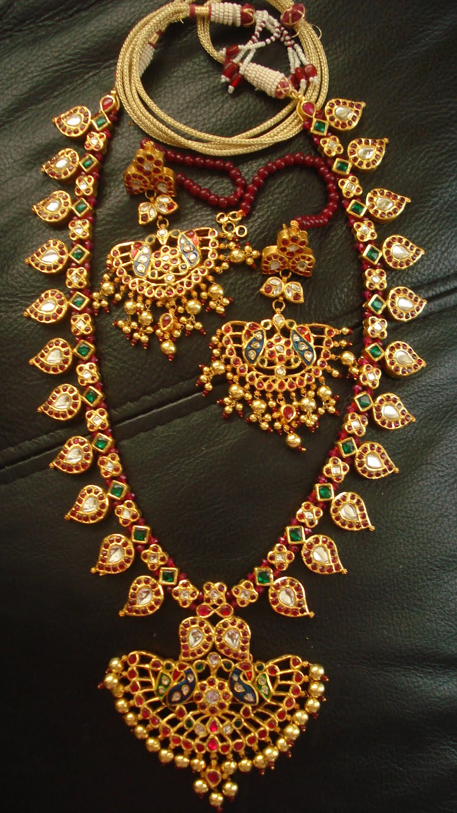 indian jewellery and clothing latest designs of kundan. Black Bedroom Furniture Sets. Home Design Ideas