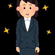 きれいなスーツを着た女性会社員のイラスト