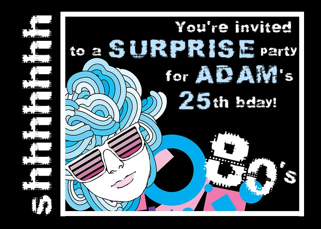 80s style surprise party for adults