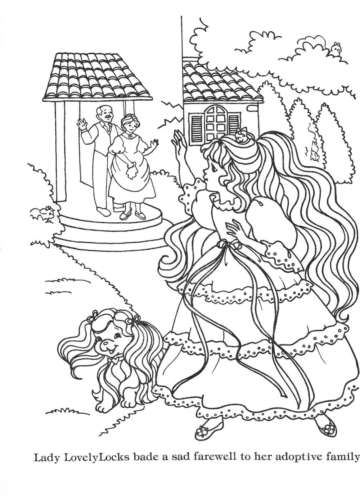 lady lovely locks coloring pages lady lovely locks coloring book lady lovely locks the