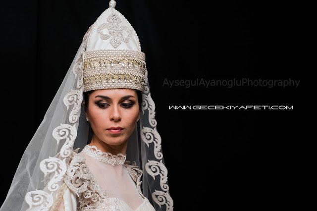 Nejla Vatanandıran tasarımı Çerkes elbiseleri çerkes kıyafetleri