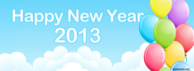 Ảnh bìa facebook happy new year 2013