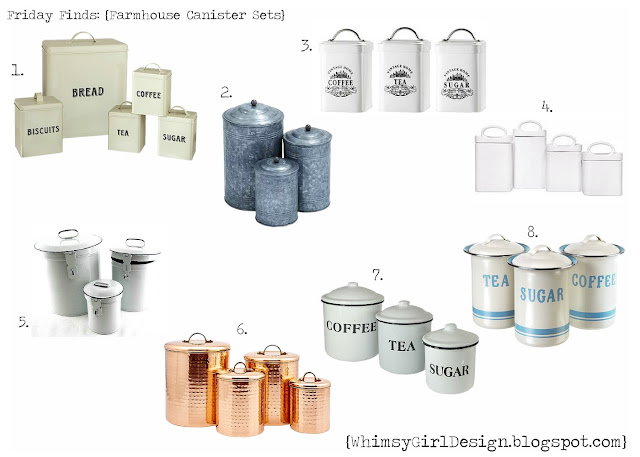 whimsy girl friday finds farmhouse inspired canister sets