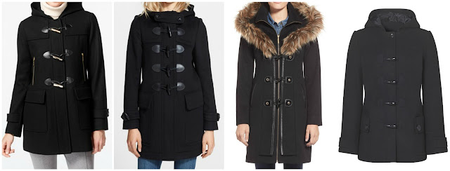 One of these duffle coats is from Burberry for $995 and the other three are under $200. Can you guess which one is the designer coat? Click the links below to see if you are correct!