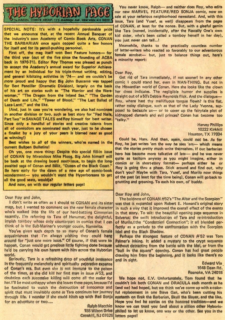 Conan the Barbarian (1970) Issue #57 #69 - English 21