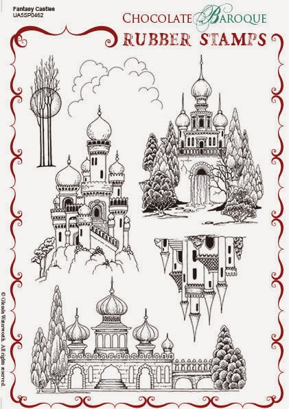 http://www.chocolatebaroque.com/Fantasy-Castles-Unmounted-Rubber-stamp-sheet--A5_p_5874.html