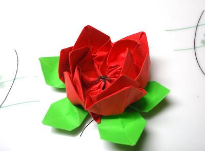 Lotus Flower Origami Design