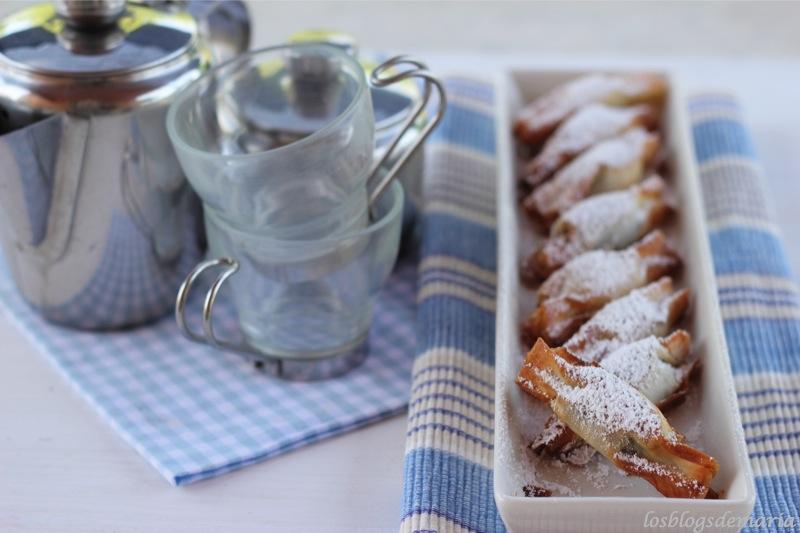 Caramelos de chocolates con pasta philo