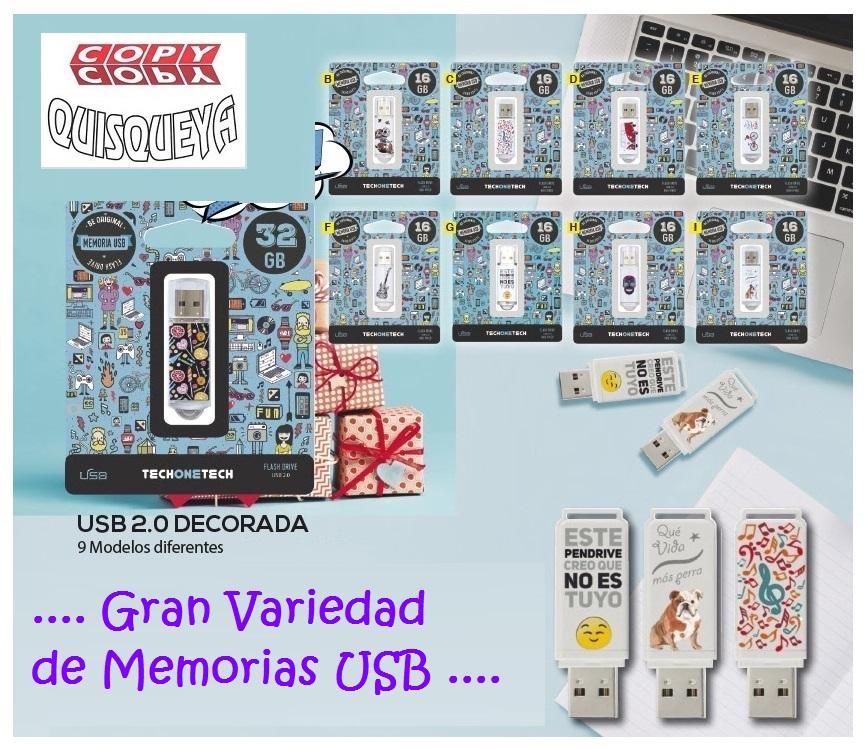 .... GRAN VARIEDAD DE MEMORIAS USB ...