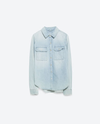 ZARA Light Denim Shirt at USD 49.