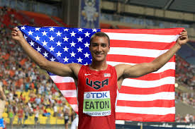 USA's Ashton Eaton successfully defended his decathlon title by breaking his own world record* with a score of 9045 at the IAAF World Championships, Beijing 2015.  The Olympic champion led from the outset after clocking 10.23 in the first event, the 100m. After solid marks in the long jump (7.88m), shot put (14.52m) and high jump (2.01m), he ended the first day with a world decathlon best of 45.00 in the 400m.  He continued to lead throughout the second day, clocking 13.69 in the 110m hurdles, throwing 43.34m in the discus, clearing 5.20m in the pole vault and throwing 63.63m in the javelin. After nine events, his score was already 8216.  Going into the final event, the 1500m, he needed to run 4:18.25 to break his world record of 9039. He seemed to be some way off the pace with a lap to go, but he kicked hard in the closing stages to cross the line in 4:17.52.  It gave him a score of 9045 and, thanks to the support of IAAF partner TDK, earned him a world record bonus of US $100,000.  *Subject to the usual ratification procedures