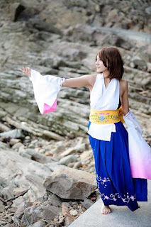 Nanayo cosplay as Yuna from Final Fantasy X