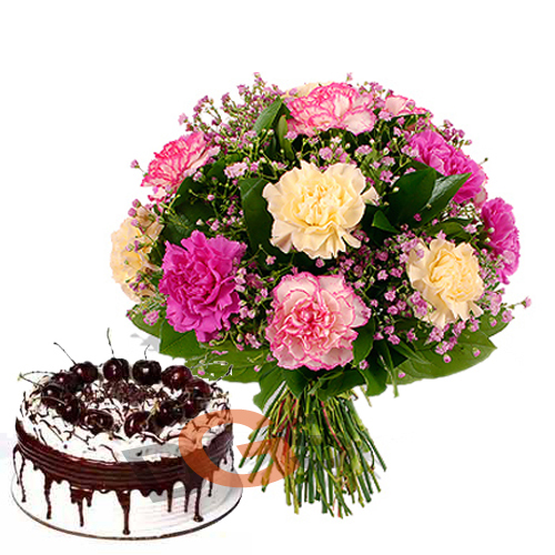Images Of Birthday Cake With Bouquets : Birthday Flowers and Gifts Delivery - FBN Flower Boutique