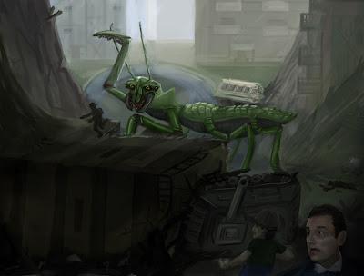 Giant Mantis Monster Giant Mantis