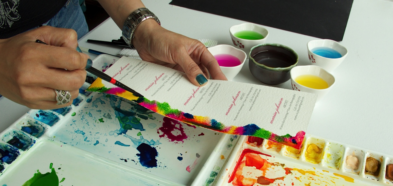 Watercolor Business Cards Diy Gallery - Card Design And Card Template
