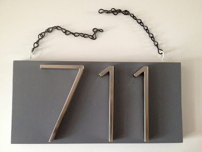 Mad for mid century diy mid century modern house numbers for Modern house numbers home depot