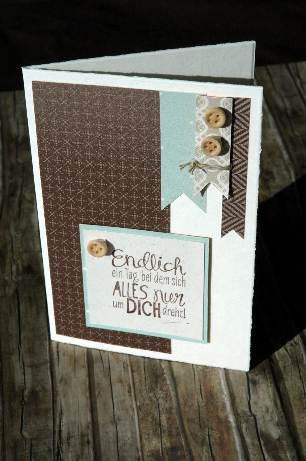 Paperwitch noch was f r m nner - Geburtstagskarte basteln mann ...