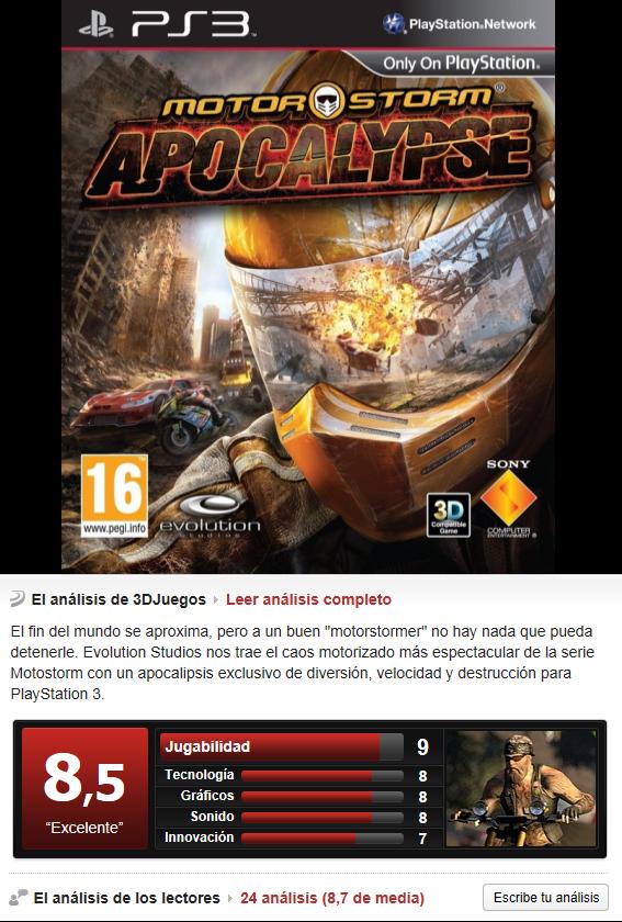 Motorstorm Apocalypse [PS3][3.55][Multi]