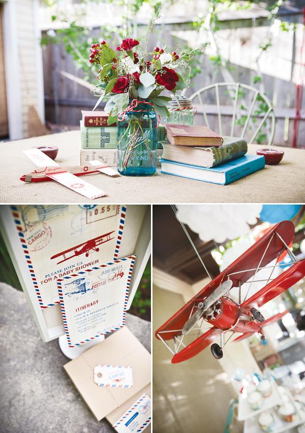 Precious cargo for Airplane baby shower decoration ideas