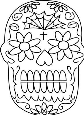 Imágenes para colorear para día de muertos