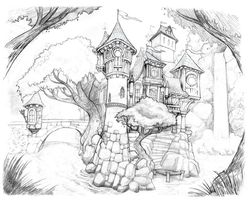 When Scanning Line Art You Should : Brandon starr s art new castle illustration
