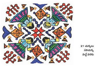muggulu , sankranthi muggulu designs with dots, sankranthi muggulu