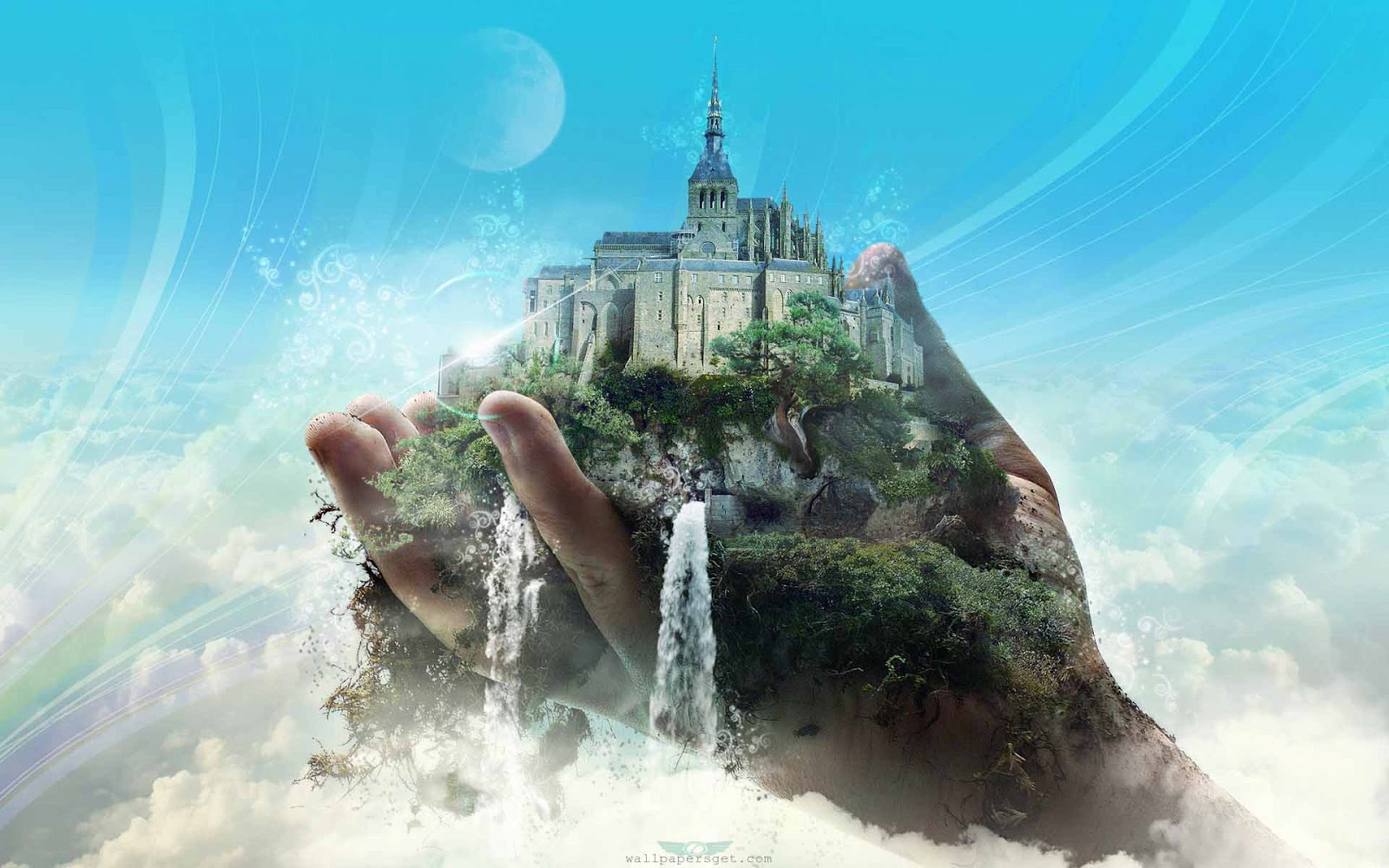 3d &- abstract Dreamy &- fantasy Wallpaper: Fantasy Castle ...