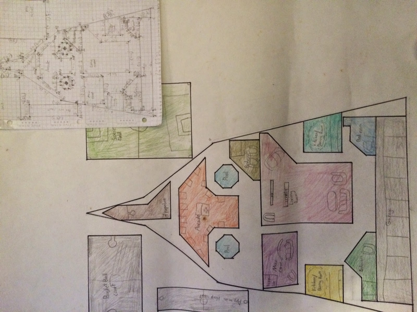 Middle school math man blueprint project for upper elementary math creative designs my students came up with this year some of my students really spent a lot of time outside of class making their projects look great malvernweather Image collections