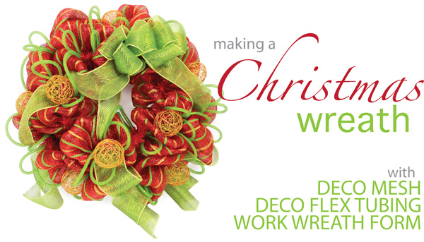 christmas wreath with deco mesh a video tutorial