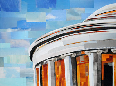 A Piece of the Jefferson Memorial by collage artist Megan Coyle