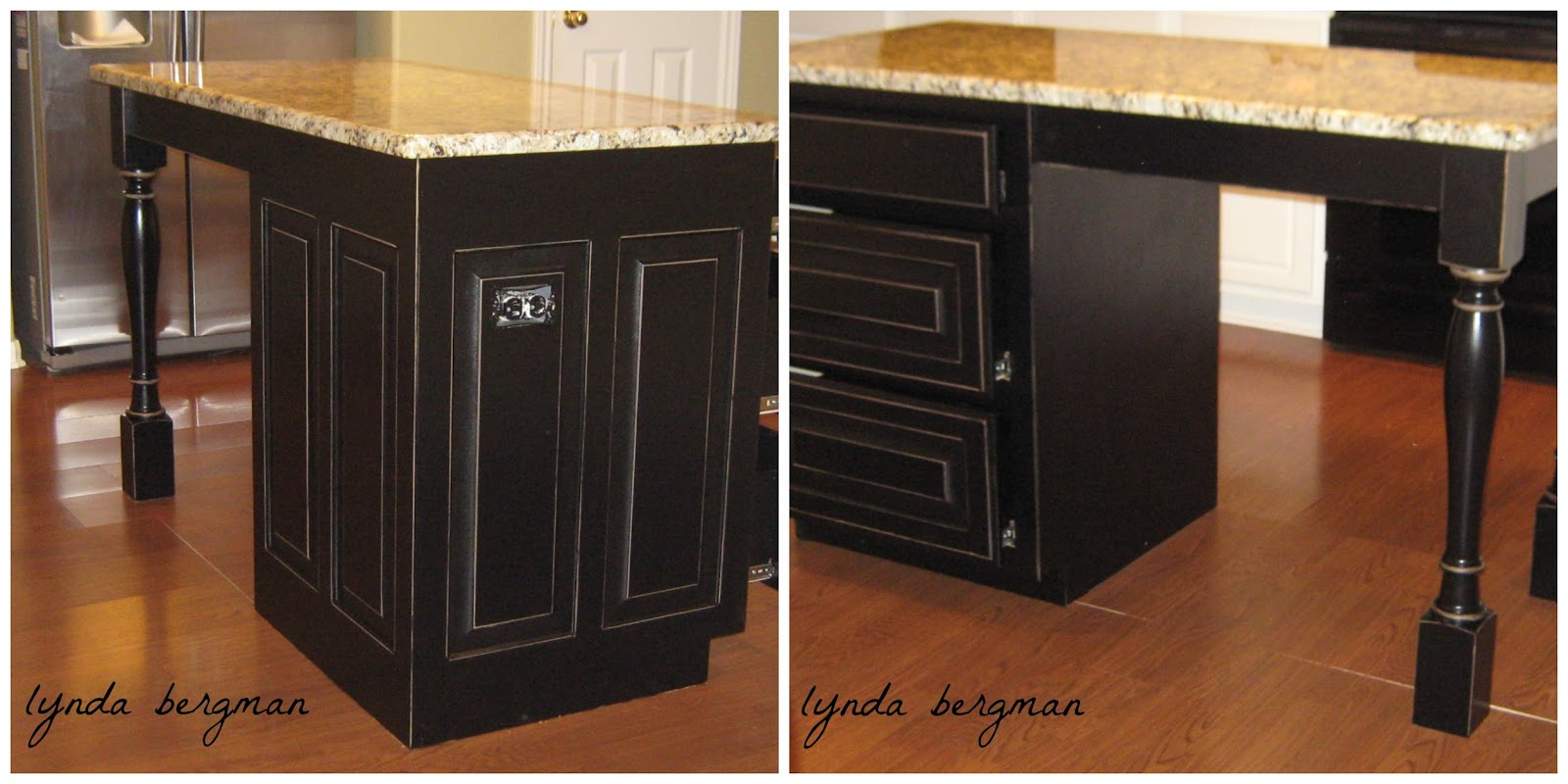 Distressed black kitchen cabinets then i painted it black and