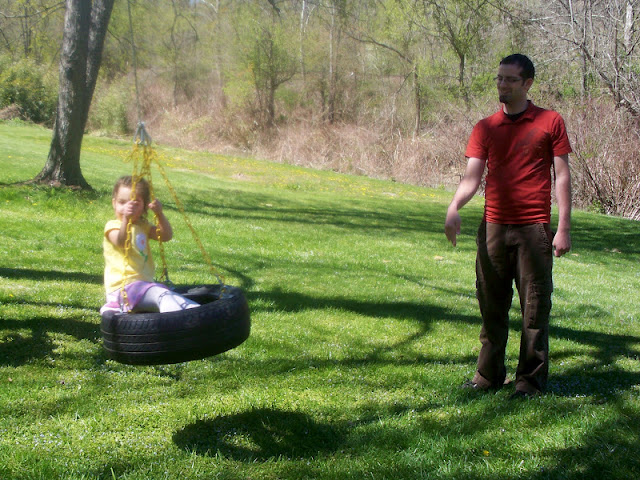 I want a tire swing like this for my back yard.
