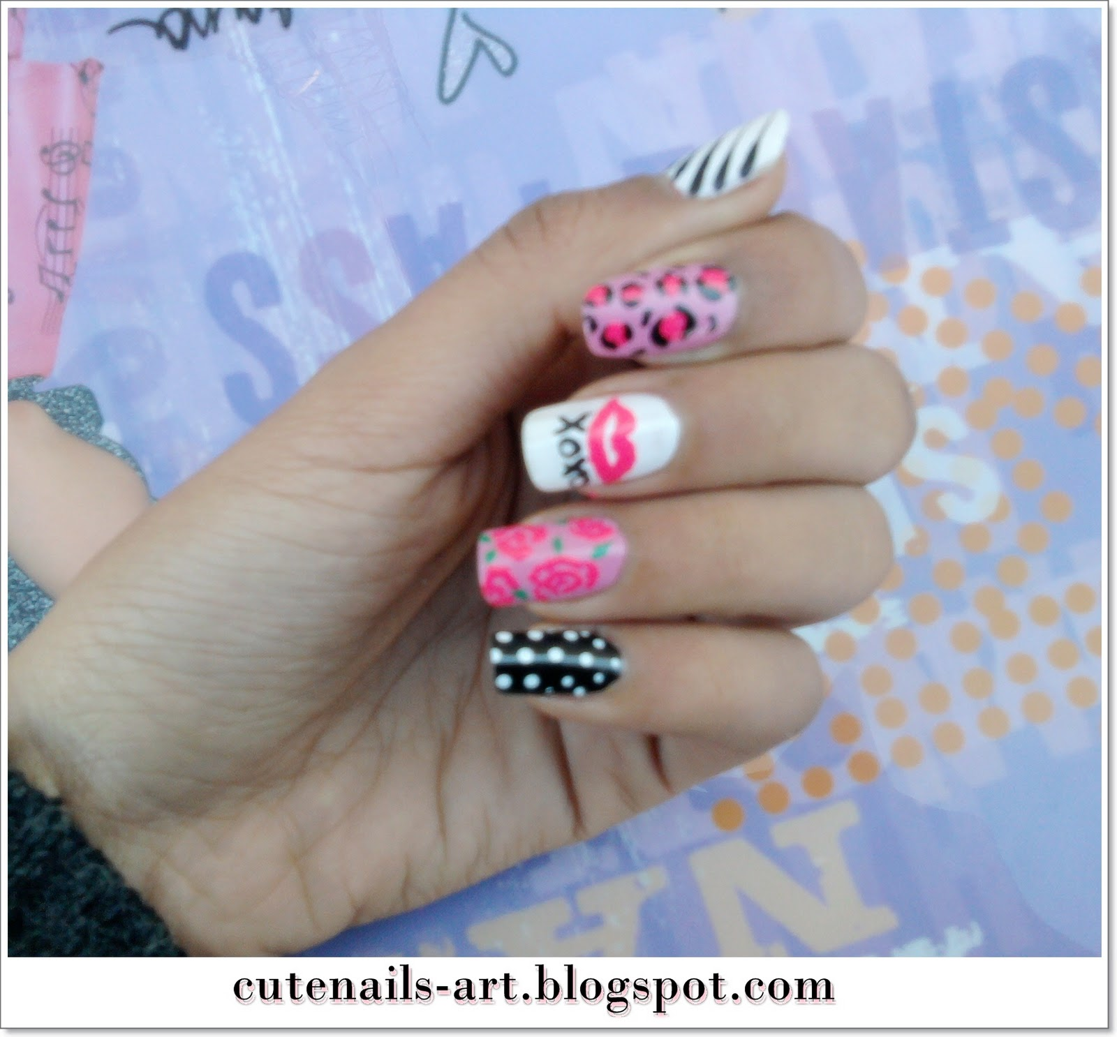 cutenails-art: Girly,pinky nails