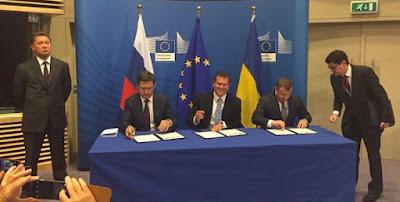 Подписано газовое соглашение на зимний период между Украиной, Россией и ЕС