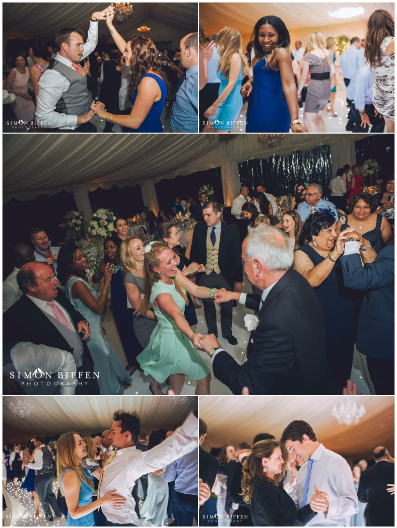 Dancing at Polesdon Lacey marquee wedding