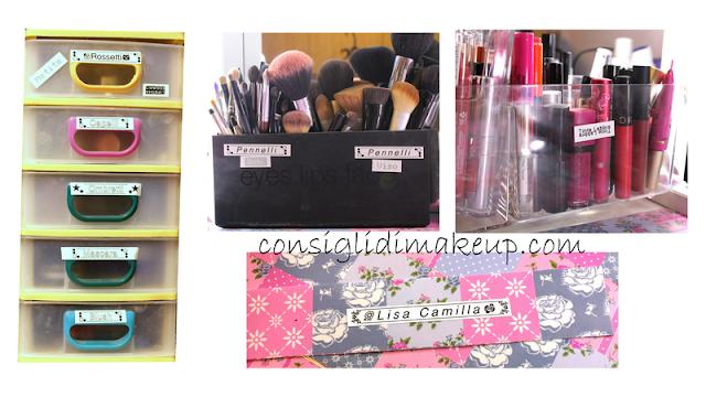 Come organizzare la postazione makeup con l'etichettatrice Brother