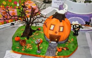 Tortas de Halloween con Calabazas, parte 2