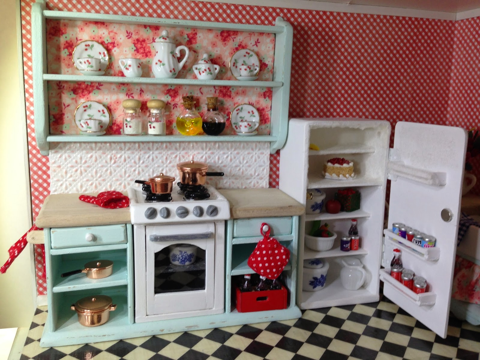 Kitchen Dollhouse Furniture Once Upon A Doll Collection Shabby Chic Kitchen Dollhouse Part 5