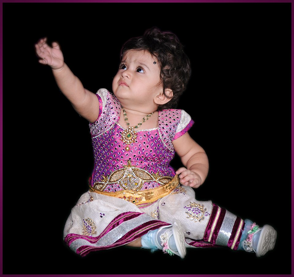 indian cute girl baby first birthday jewellery and dress styles