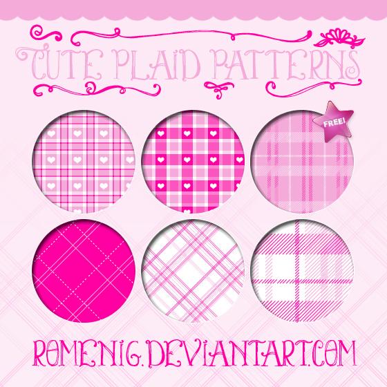 Lindos patrones en tonos rosa para Photoshop
