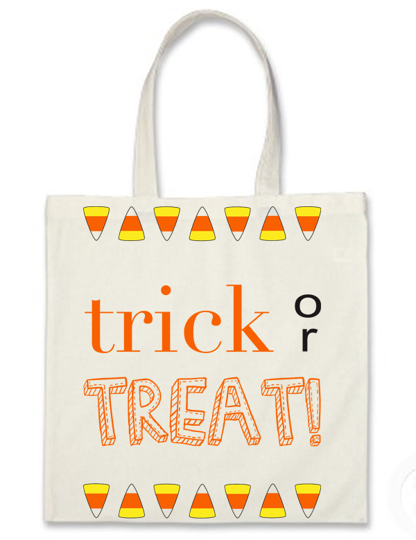 DIY canvas trick or treat bag with free download (via Hollywould)