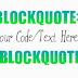 Adding Customized Blockquote to Blogger Blog