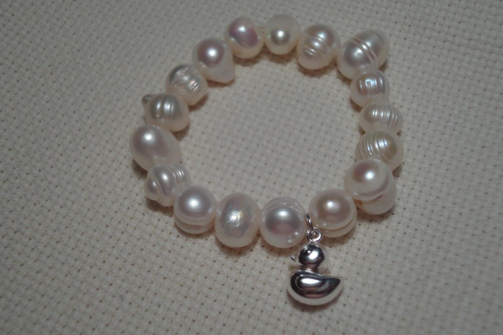Pulseras de perlas para ninas