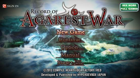RPG Record of Agarest War v1.32 Apk