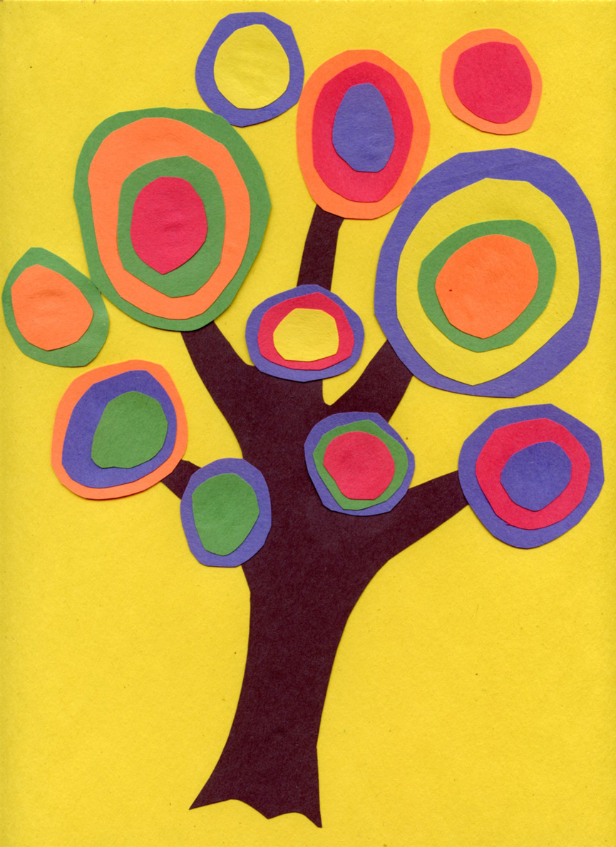 Kandinsky Tree Lesson http://kootation.com/paintings-children.html