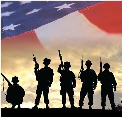 military against flag